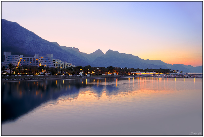 """фото """"Закат на Средиземноморье"""" метки: пейзаж, вода, горы"""