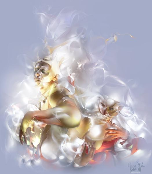 "фото """"Браки на Небесах..."" (""Светографика - Размышления о ..."")"" метки: портрет, digital art,"