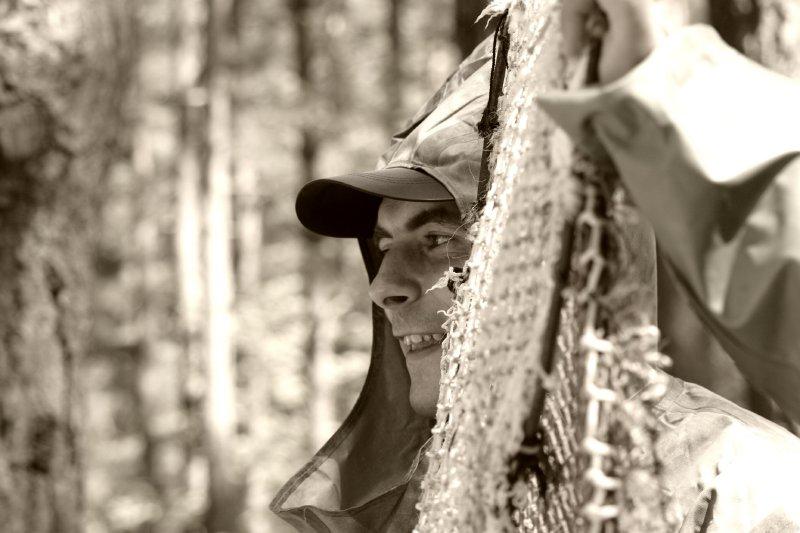 """фото """"Веселый рыбачок"""" метки: портрет, черно-белые, мужчина"""