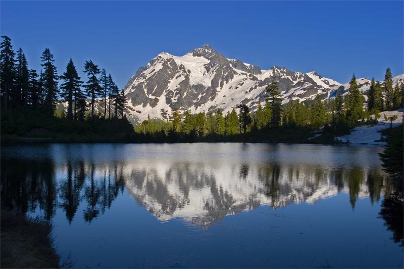 "фото ""Picture Lake"" метки: пейзаж, вода, горы"