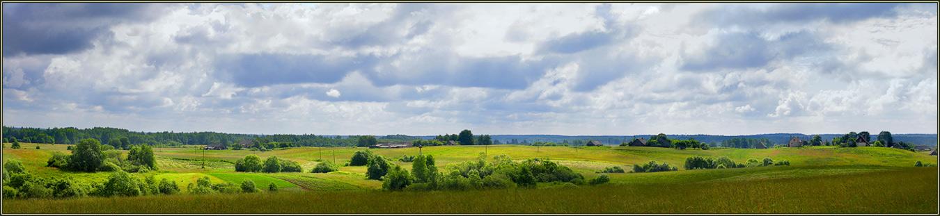 """фото """"Зеленый уют полей"""" метки: панорама, пейзаж, лето"""