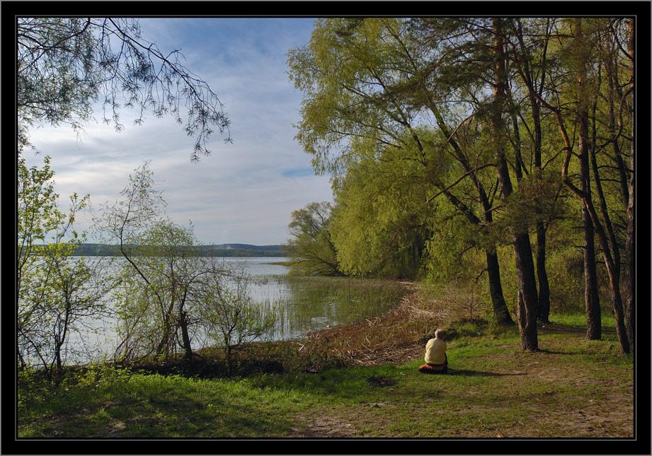 """фото """"Думы о былом"""" метки: пейзаж, вода, лес"""