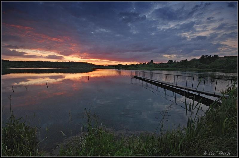 """фото """"уходил  день ..."""" метки: пейзаж, вода, закат"""