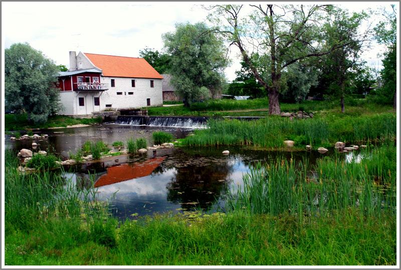 """фото """"домик у реки"""" метки: пейзаж,"""