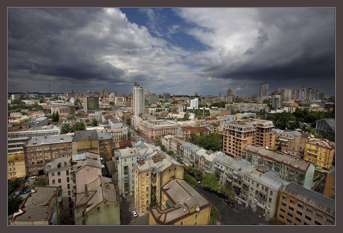 """фото """"Тучи над городом."""" метки: город,"""