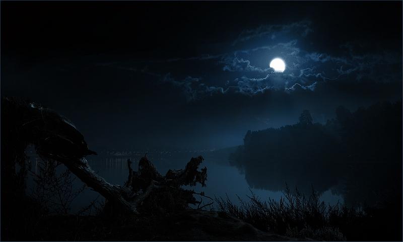 """фото """"Ночь индиго"""" метки: пейзаж, вода, ночь"""