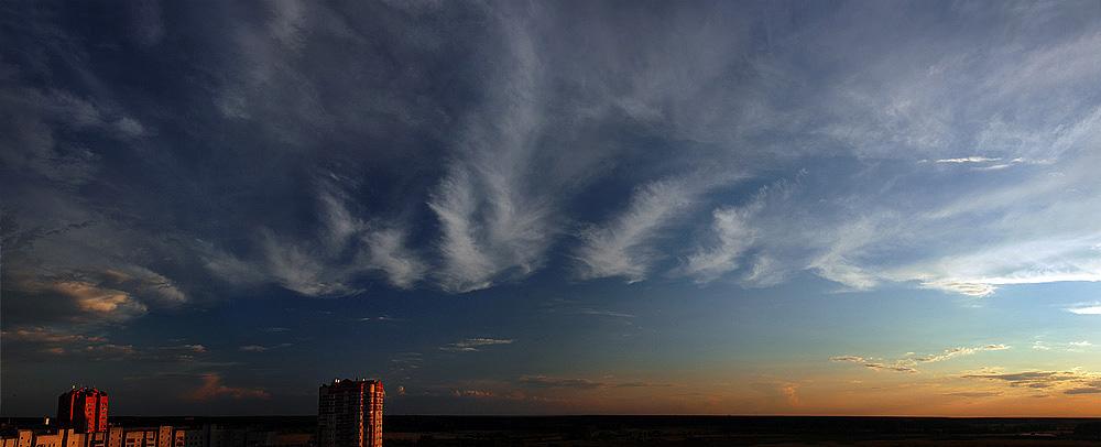 """фото """"Небо в период заката"""" метки: пейзаж, закат, облака"""