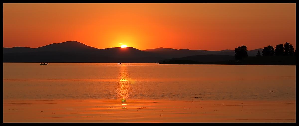 """фото """"озеро Аргази около Челябинска"""" метки: пейзаж, закат, лето"""