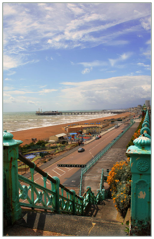 "фото ""Brighton beach"" метки: архитектура, путешествия, пейзаж, Европа"
