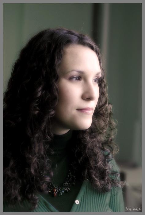 """фото """"Портрет в зеленых тонах"""" метки: портрет, женщина"""