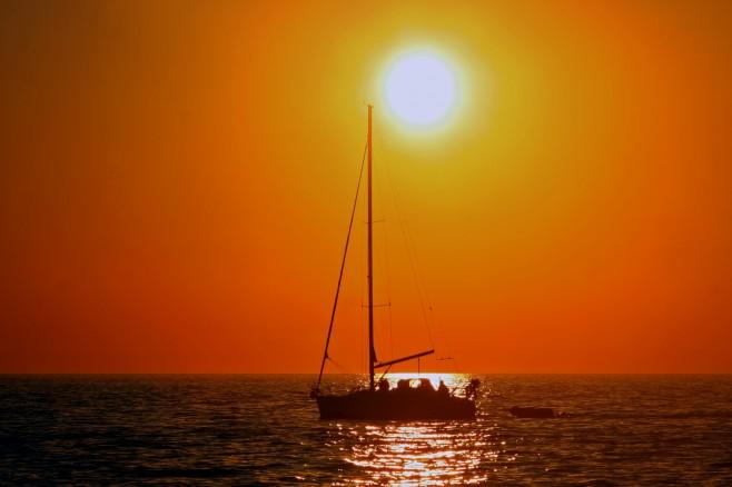 "фото ""Sunet at the sea"" метки: пейзаж, закат"