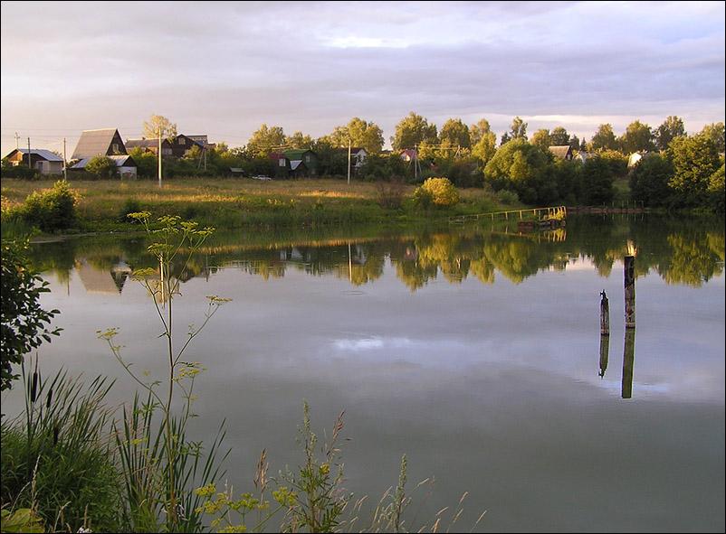 """фото """"Солнечный вечер с  каплями дождя."""" метки: пейзаж, вода"""