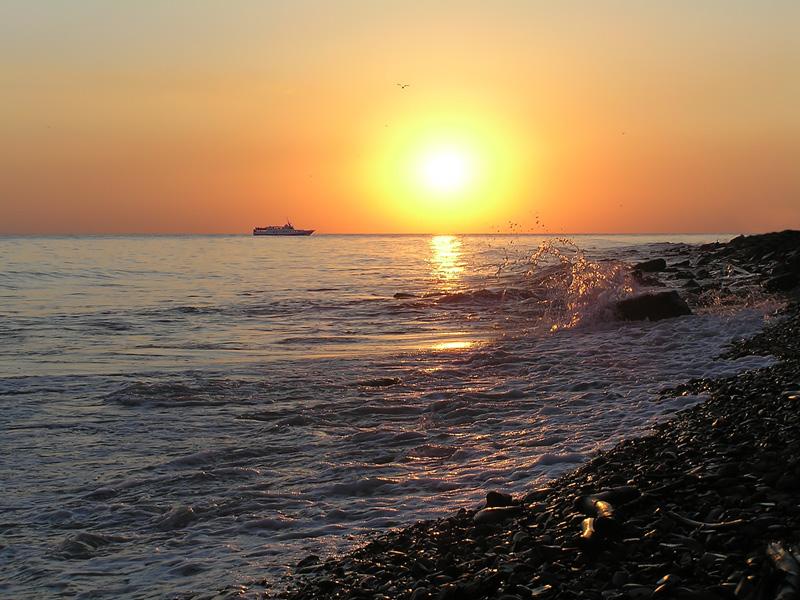 "фото ""Закат на Черном море"" метки: пейзаж, вода, закат"