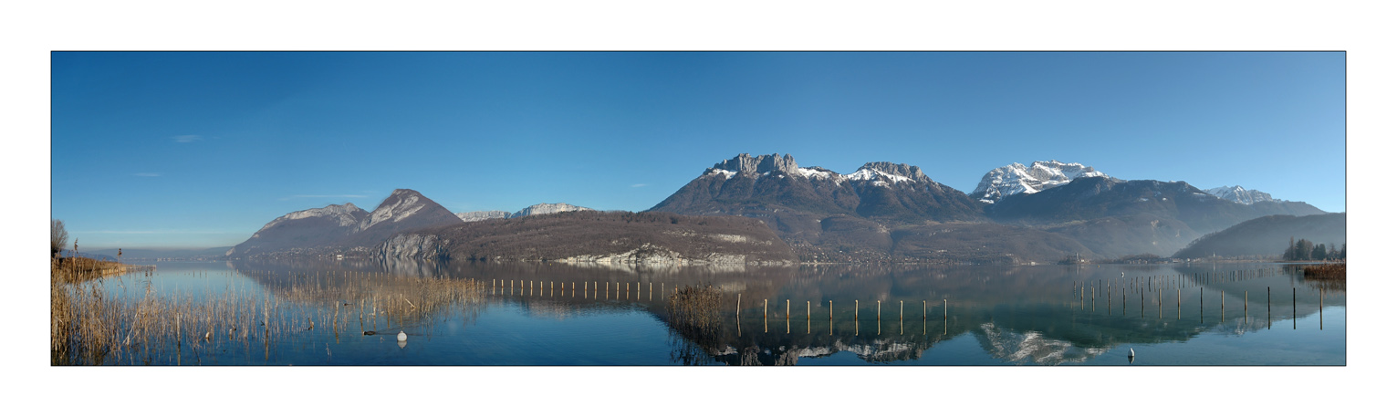 "photo ""Panoramic Wiew : Annecy Lake"" tags: landscape, mountains, water"