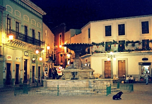 "photo ""Square in Guanajuato and an itch and the kiss."" tags: travel, still life,"