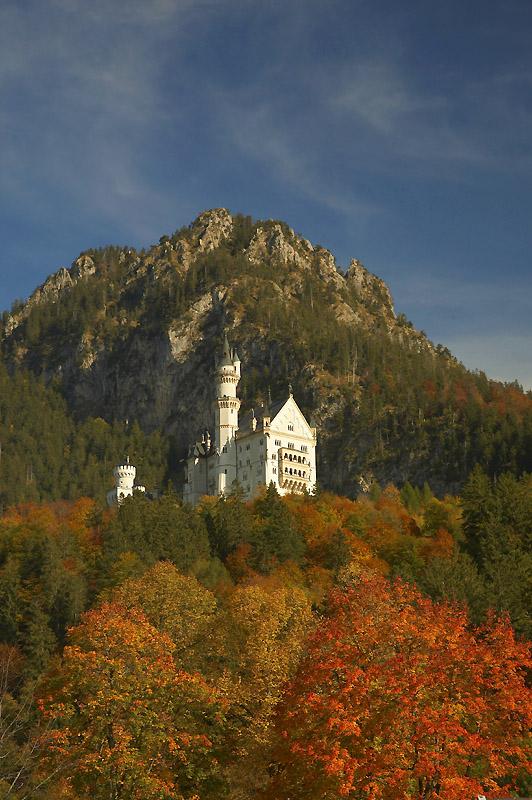 """photo """"Sсhloss Neuschwanstein"""" tags: architecture, landscape, autumn"""