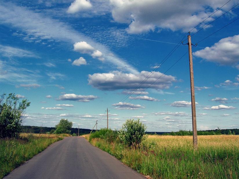 "фото ""Сага о трех диагоналях"" метки: пейзаж, лето, облака"