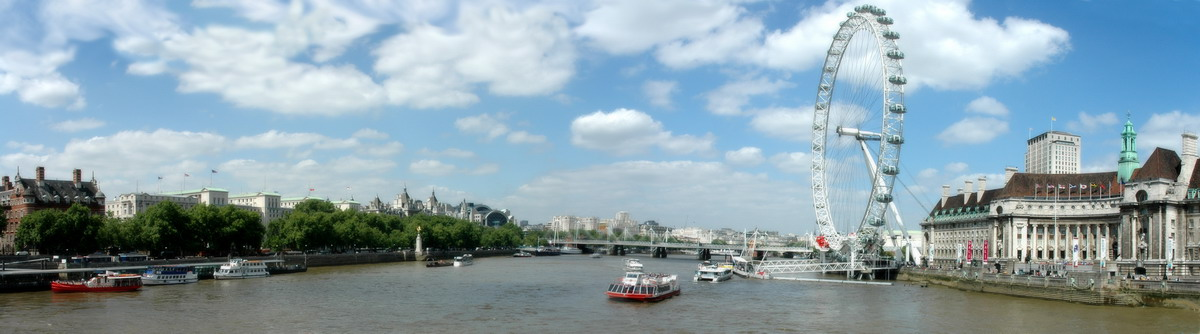 "photo ""The River Thames"" tags: panoramic, landscape, water"