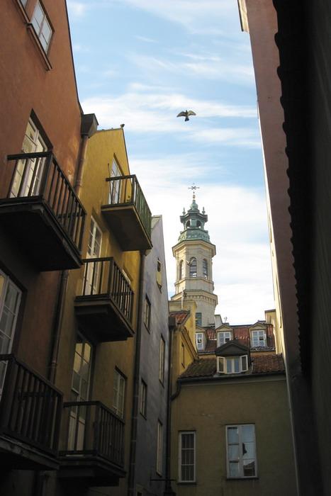 """фото """"Утро в варшавском дворике"""" метки: архитектура, город, пейзаж,"""