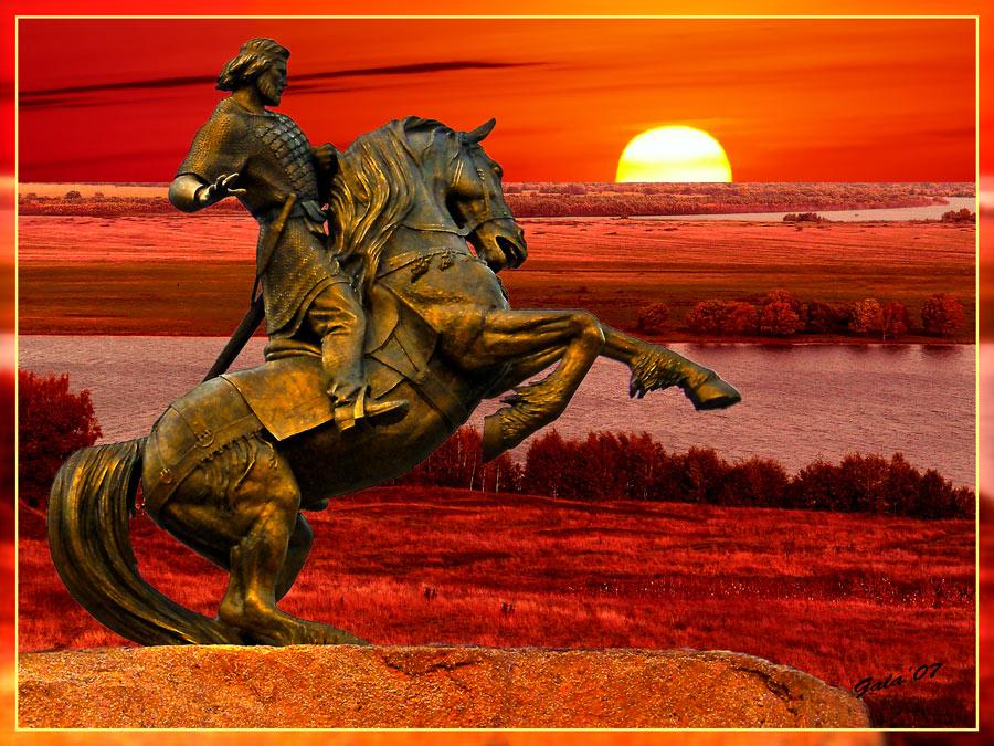 """фото """"Евпатий Коловрат - герой Земли Рязанской"""" метки: фотомонтаж, жанр,"""
