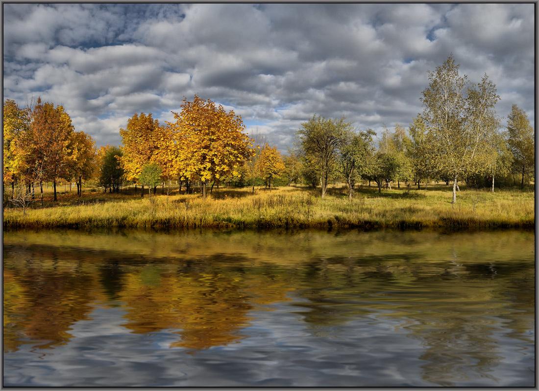 """фото """"осенний прилив"""" метки: пейзаж, вода, осень"""