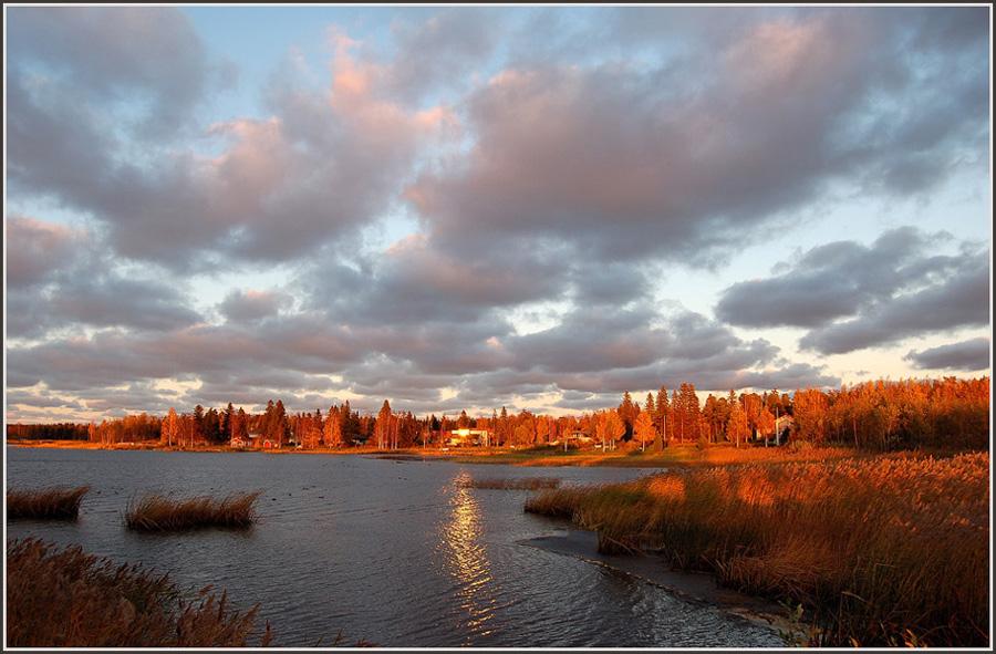 "фото ""Magic of the northern autumn sunset"" метки: пейзаж, закат, осень"