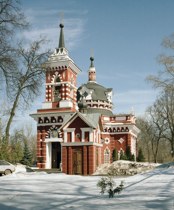 "photo ""Ivanteevka city. Church of the Smolenskaya icon of the Virgin (1808)"" tags: architecture, landscape,"