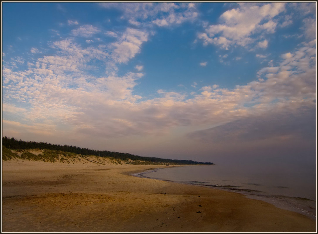 "photo ""The beach"" tags: landscape, sunset"