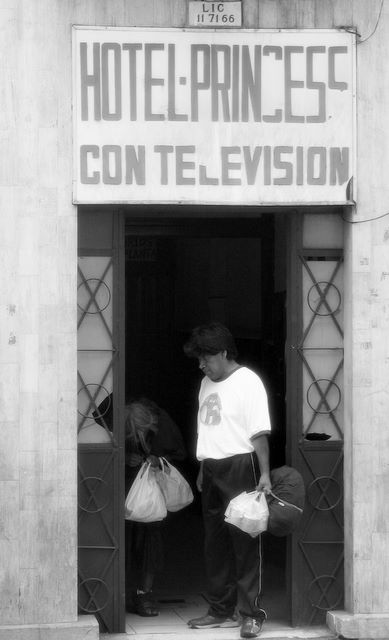 "photo ""with tv?"" tags: travel, South America"