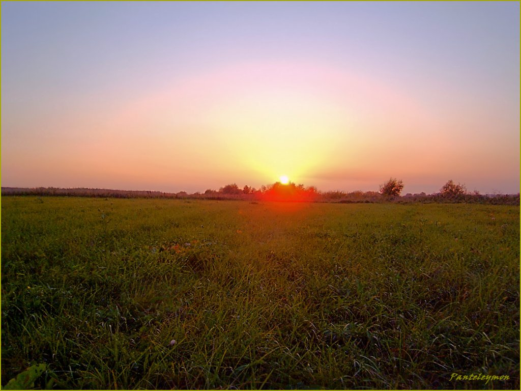 "photo ""Decline in meadows"" tags: landscape, sunset"