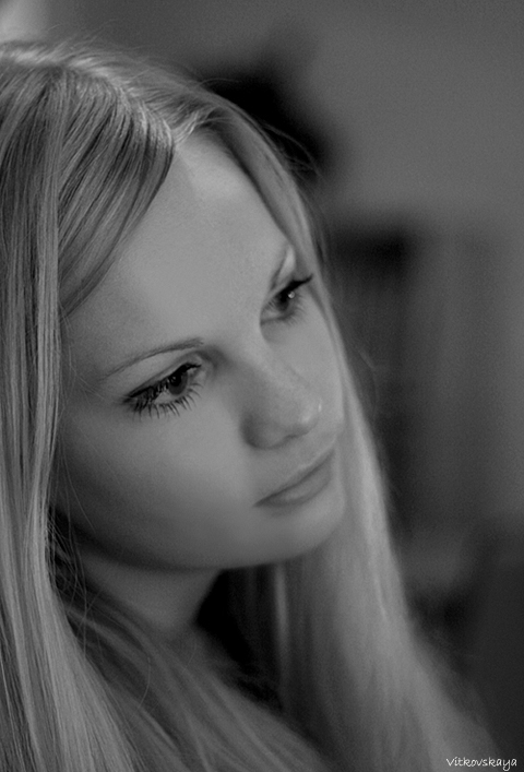 "photo ""dreams"" tags: portrait, black&white, woman"