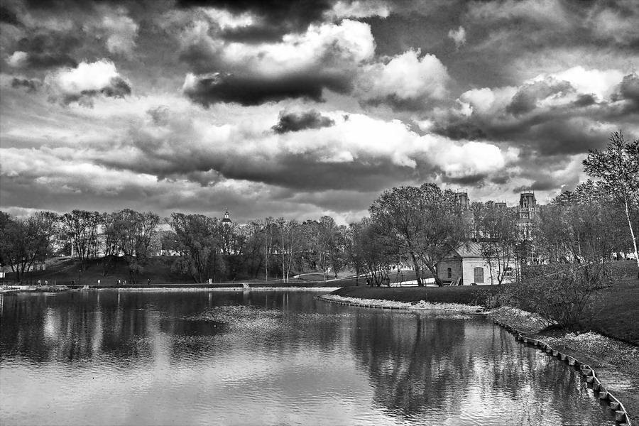 """фото """"Граверные работы"""" метки: пейзаж, черно-белые, облака"""