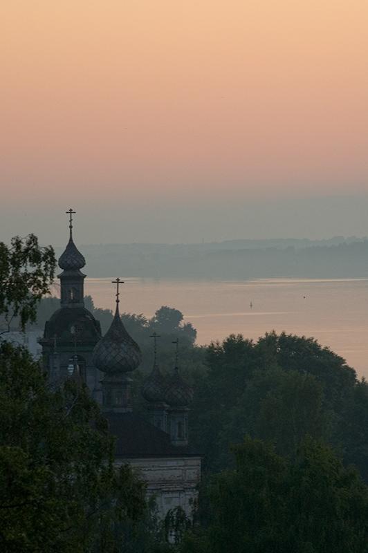 """фото """"Волга, Вечерний туман"""" метки: пейзаж, закат"""