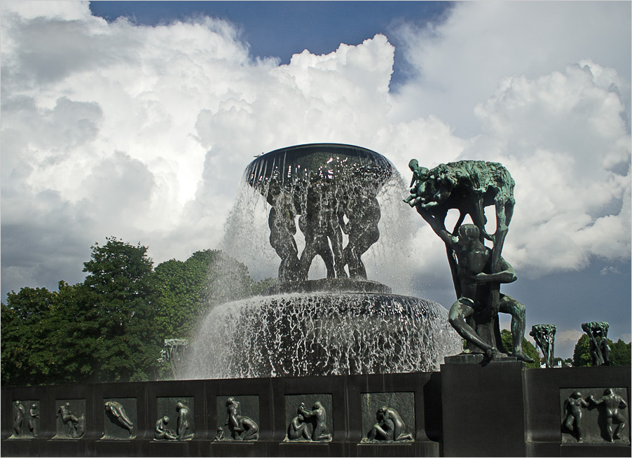 "photo ""Sculpture park Gustave Vigellana, Oslo. Fountain"" tags: architecture, travel, landscape, Europe"