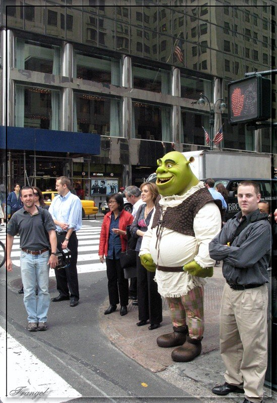 "photo ""SHREK in New York City"" tags: humor, travel, North America"