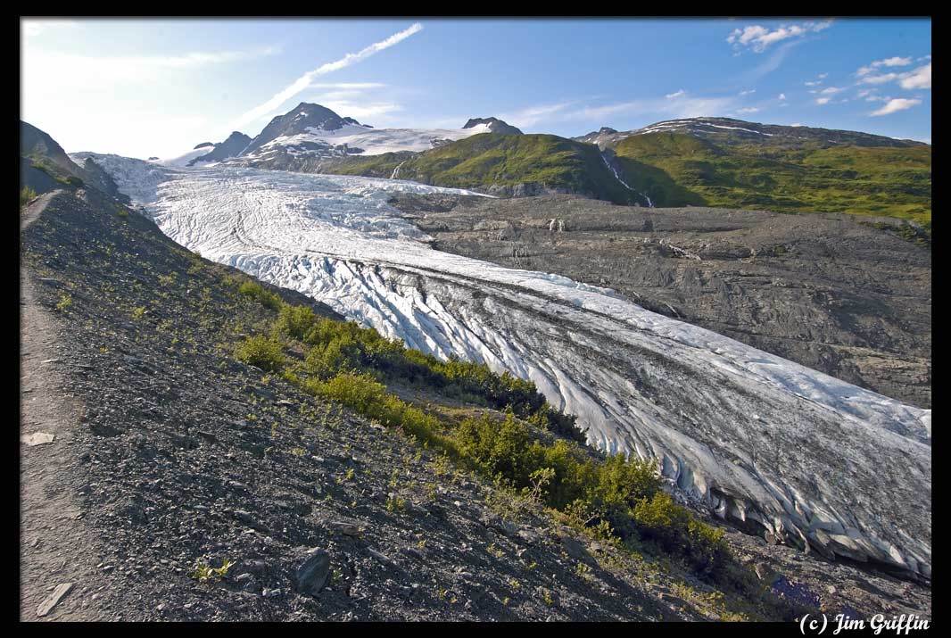 "фото ""The worrisome hike next to Worthington Glacier"" метки: пейзаж, горы, лето"