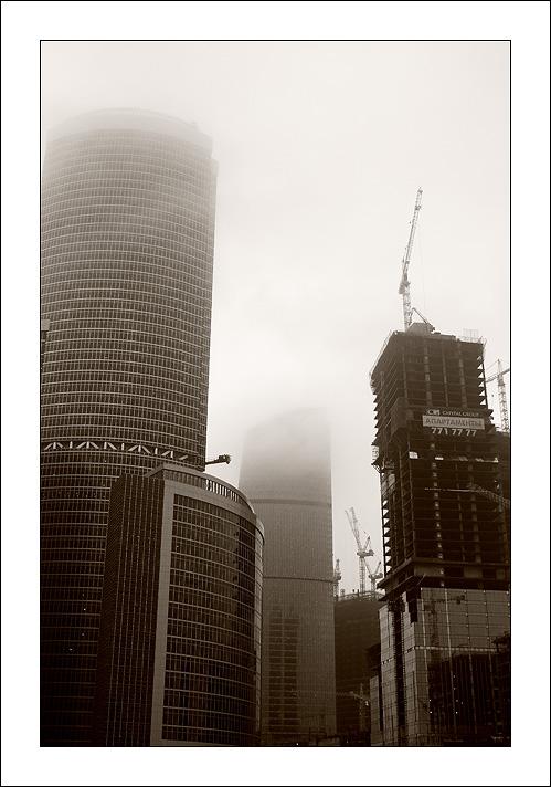 """photo """"Mist"""" tags: architecture, city, landscape,"""