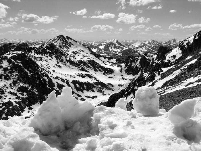 "photo ""Rocky mountains"" tags: landscape, black&white, mountains"