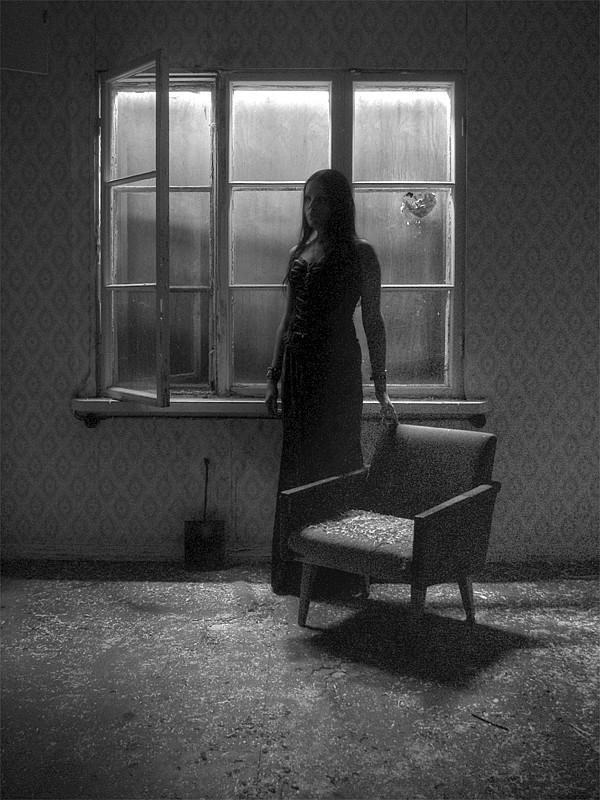"photo ""'Silence - part II'"" tags: portrait, black&white, woman"
