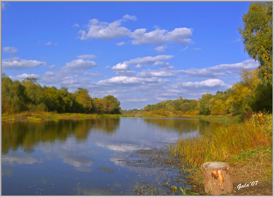 "photo ""Clouds and lake"" tags: landscape, autumn, water"