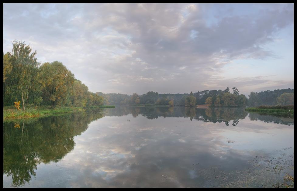 """фото """"Туманное утро"""" метки: пейзаж, вода, осень"""