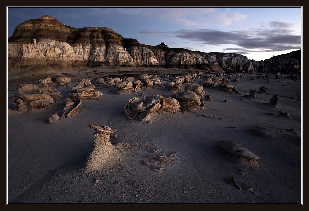 "photo ""Bisti Badlands."" tags: landscape, travel, North America, night"