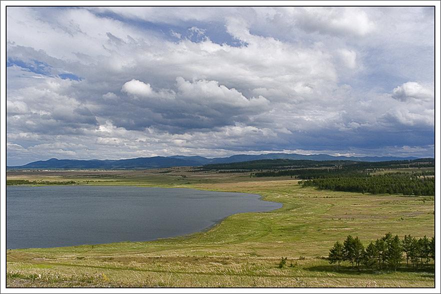 """фото """"У начало Саян."""" метки: пейзаж, горы, облака"""