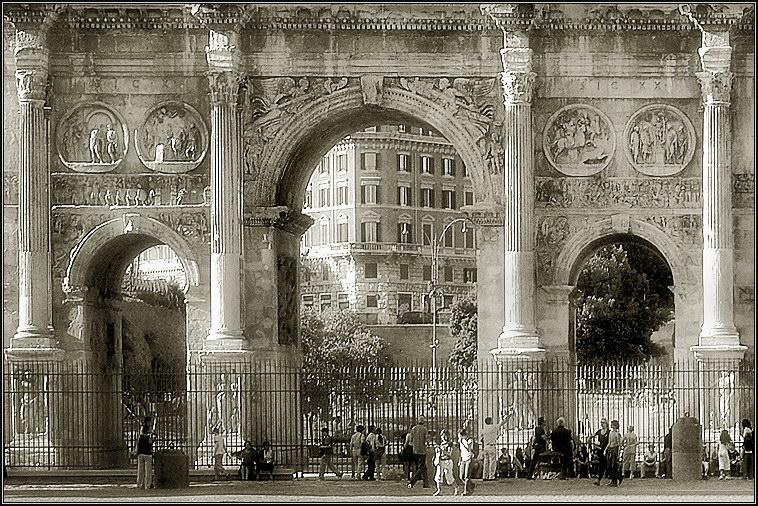"""фото """"Вечный город"""" метки: архитектура, черно-белые, пейзаж,"""