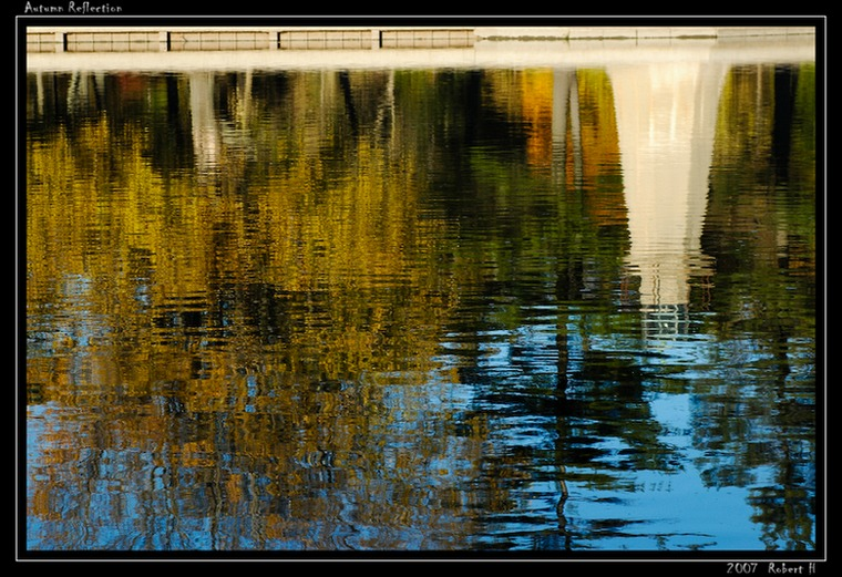 "photo ""Autumn Reflection"" tags: landscape, autumn, water"