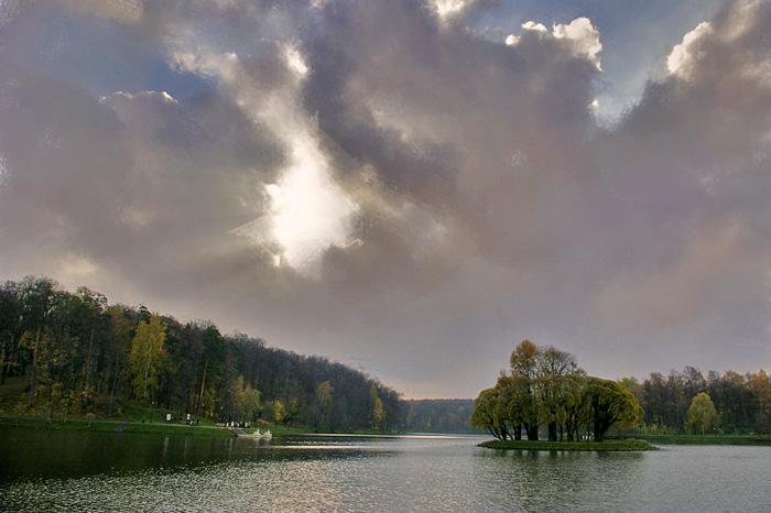 "фото ""Остров."" метки: пейзаж, вода, облака"
