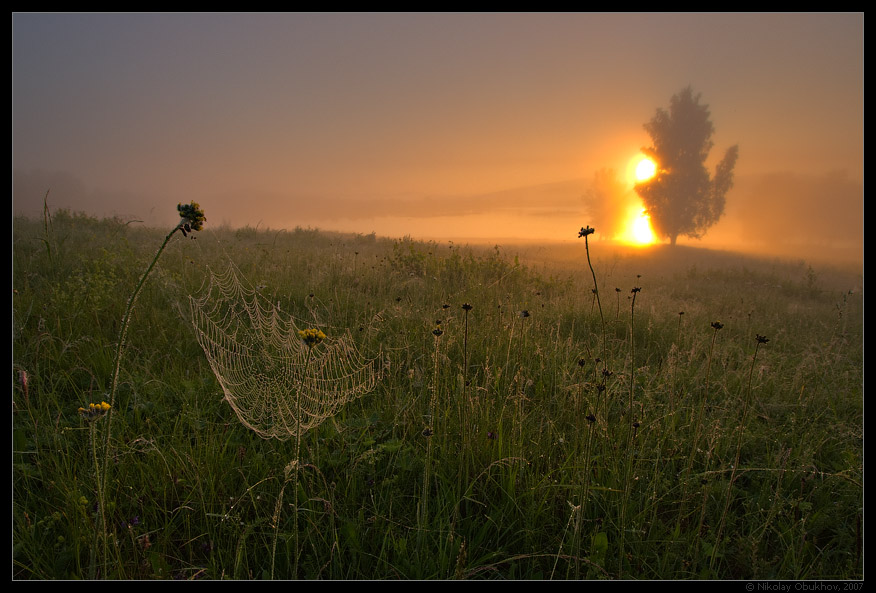 "photo ""Chernoistochinsk / 0171_0201"" tags: landscape, fog, summer, sunrise"