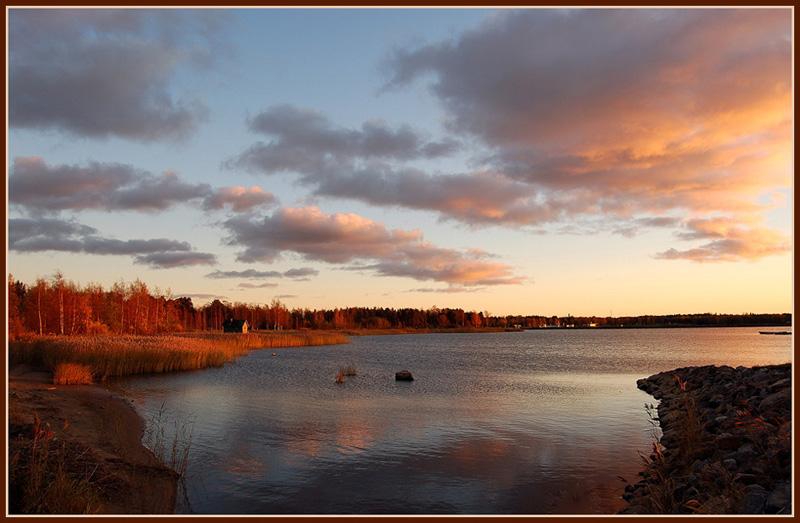 """фото """"October sunset"""" метки: пейзаж, закат, осень"""