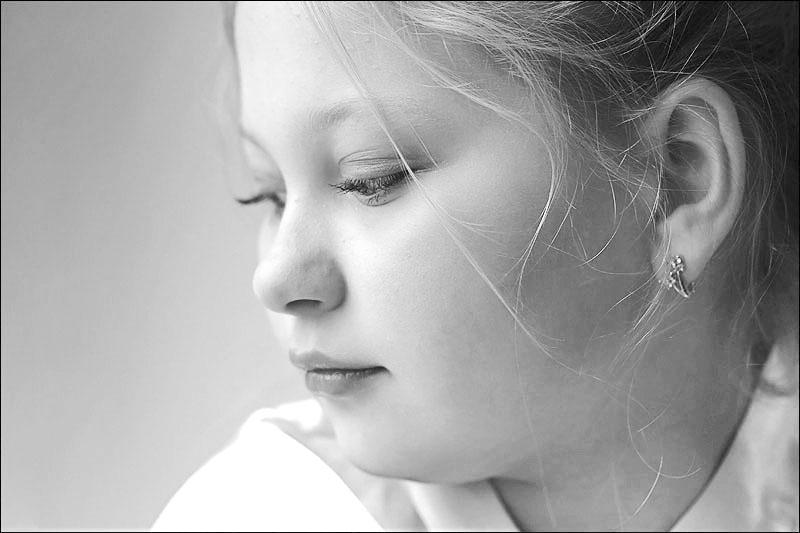 """фото """"Светлая. - 4"""" метки: черно-белые, портрет, дети"""