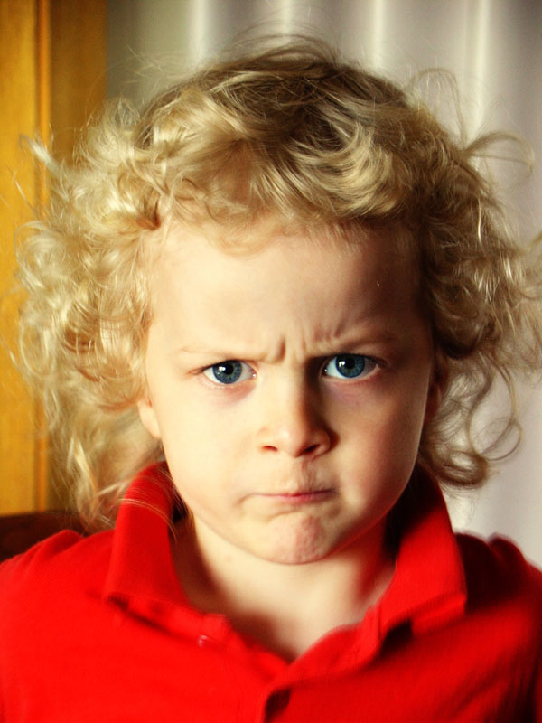 "photo ""me angry...me hate you!"" tags: portrait, children"